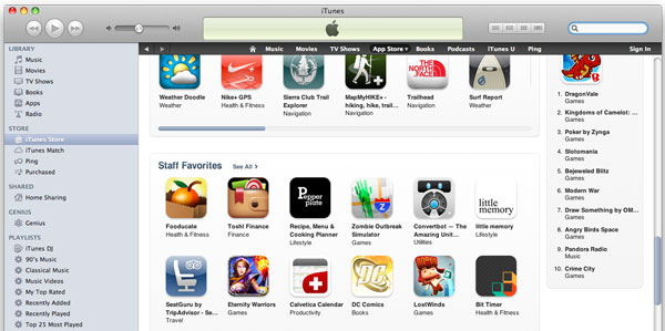 iZOS featured in Apple Staff Favorites!