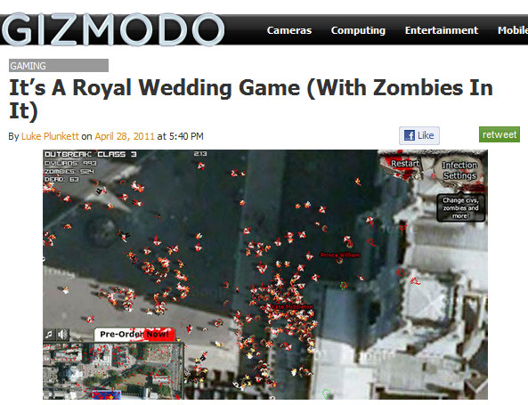 Zombie Royal Wedding on Gizmodo