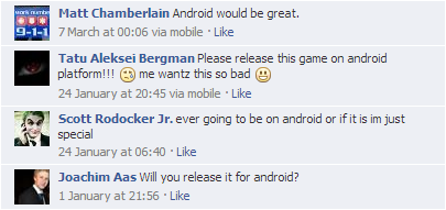 Android Facebook comments