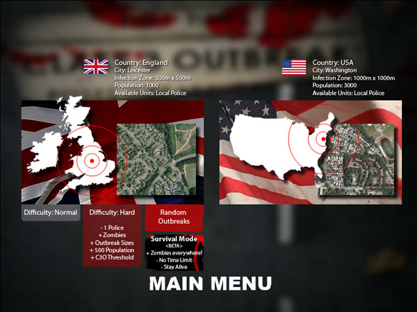 Classic Class 3 Outbreak map selection
