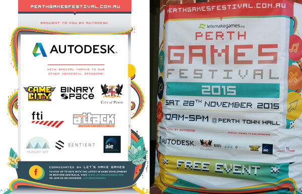Binary Space logo in Perth Games Festival sponsors